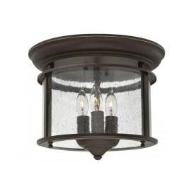 GENTRY flush mounted hall ceiling light - old bronze