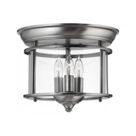 GENTRY flush mounted hall ceiling light - pewter