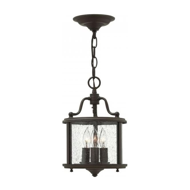 Traditional Bronze Hall Lantern On Height Adjustable Chain