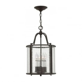 GENTRY traditional hall lantern in olde bronze finish - medium