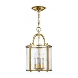 GENTRY traditional hall lantern in solid brass - medium
