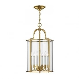 GENTRY traditional solid brass hanging hall lantern - large