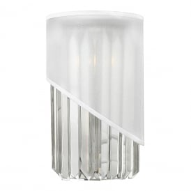 GIGI Deco wall light with crystal rods and white organza shade