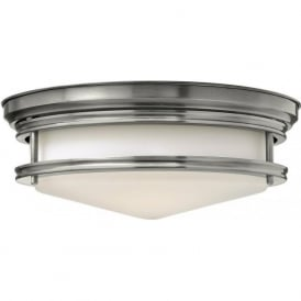 HADLEY retro style flush fitting low ceiling light (antique nickel)