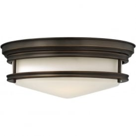 HADLEY retro style flush fitting low ceiling light (oil rubbed bronze)