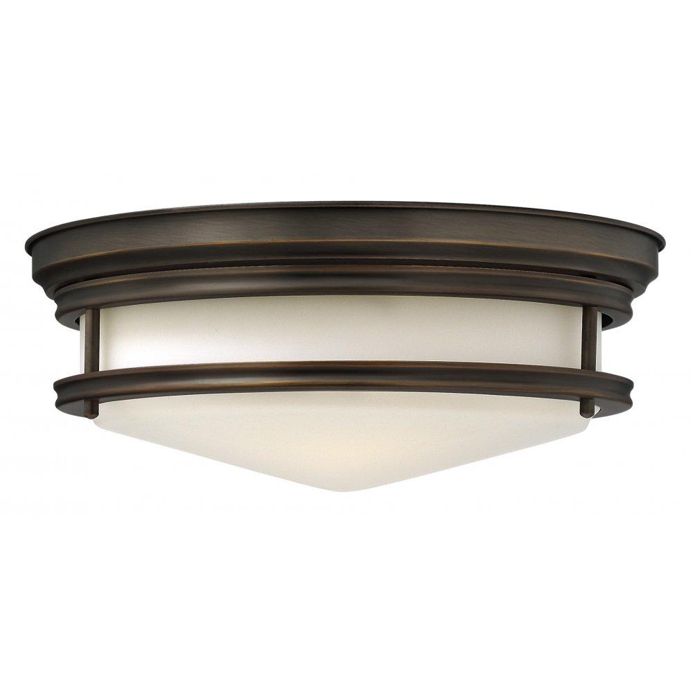 Circular Dark Bronze Low Profile Ceiling Lights For Low