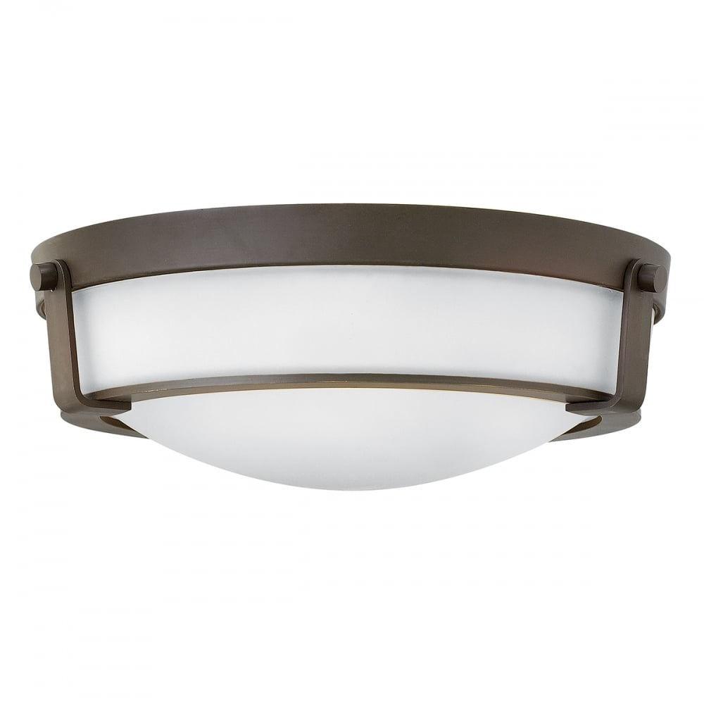 Flush fitting opal glass ceiling light with old bronze surround hathaway flush fitting low ceiling light with old bronze frame medium aloadofball Images