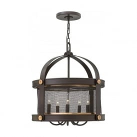 HOLDEN bronze ceiling pendant light in rustic industrial style