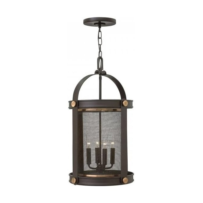 Characterful Dark Bronze Ceiling Lantern In Rustic