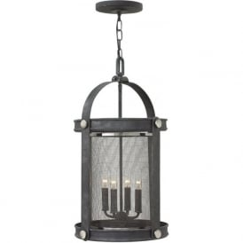 HOLDEN hanging ceiling pendant light in rustic industrial style - zinc