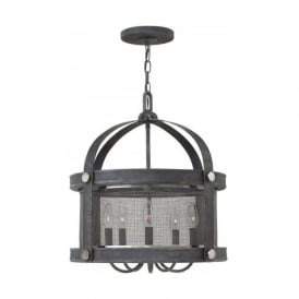 HOLDEN zinc ceiling pendant light in rustic industrial style