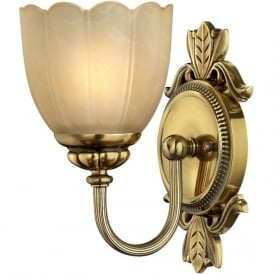 ISABELLA traditional bathroom wall light in burnished brass