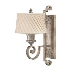 KINGSLEY traditional Edwardian silver leaf wall light