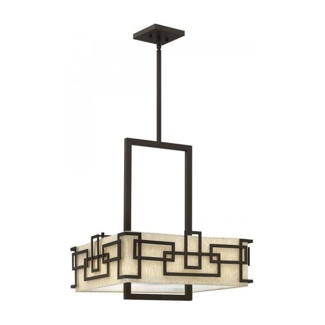Lanza art deco square hanging ceiling pendant light