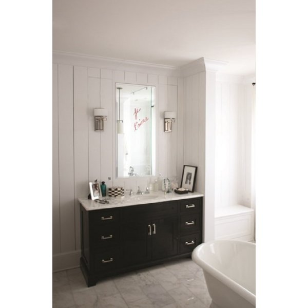 Bathroom Art Deco Lighting: IP44 Art Deco Bathroom Wall Light In Chrome With Opal