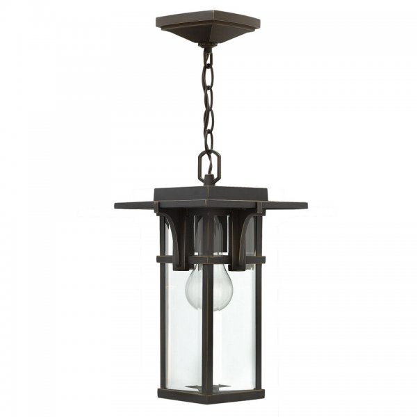 Traditional bronze hanging porch light for using as front for Art deco porch light