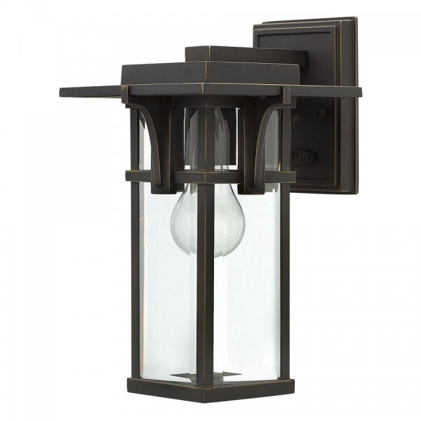 Art deco style dark bronze outdoor lanterns ip44 safe for for Art deco exterior light fixtures