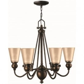 MAYFLOWER traditional 6 light bronze chandelier