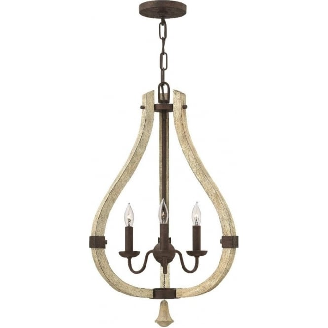 Distressed wooden chandelier rustic iron frame with chic modern twist middlefield distressed wood and rustic iron chandelier 3 lights aloadofball Choice Image