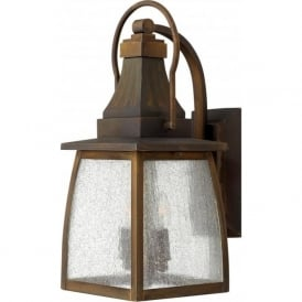 MONTAUK brass outdoor garden wall lantern - medium