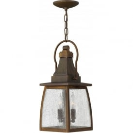 MONTAUK traditional brass hanging porch lantern