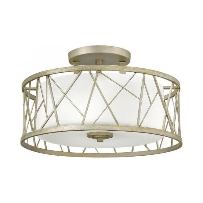 semi flush ceiling lights semi flush ceiling light with silver leaf drum shade and 10638