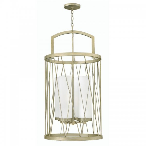 Modern Silver Ceiling Pendant Light With Long Drop For