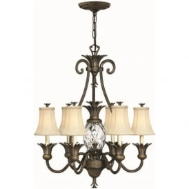 PLANTATION 7 light pineapple chandelier, bronze finish