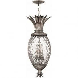 PLANTATION antique nickel pineapple ceiling pendant light