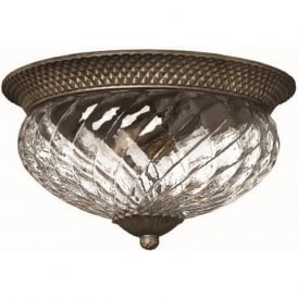 PLANTATION flush fitting traditional low ceiling light, large