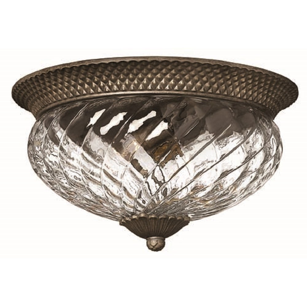 Large Flush Fitting Ceiling Light For Low Ceilings Traditional Bronze
