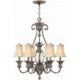 PLANTATION pineapple ceiling chandelier, antique nickel