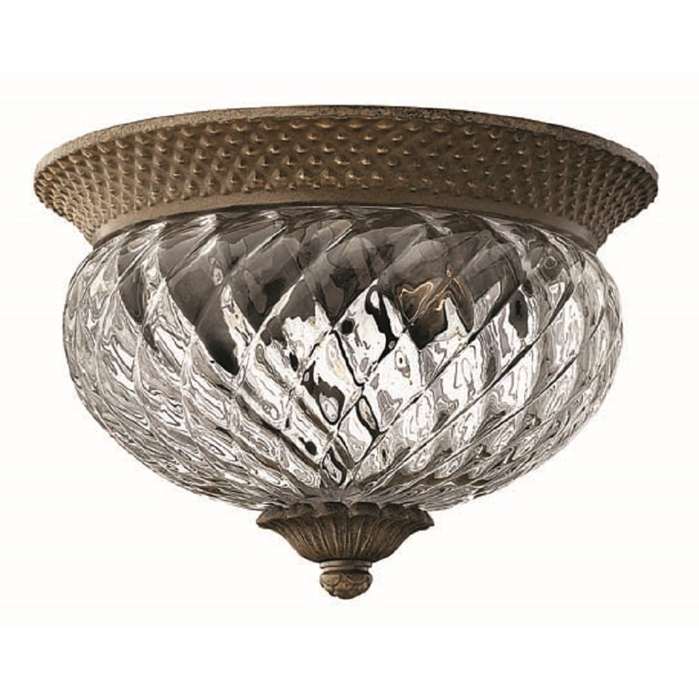 Flush Fitting Circular Bronze Ceiling Light For Low Ceilings