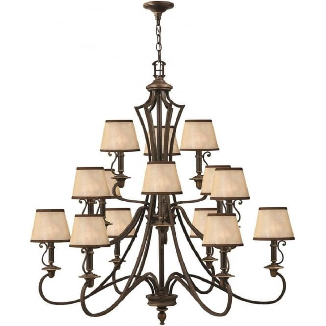 shades light of three medium chandelier com with rectangular size chandeliers bronze drum shade linear