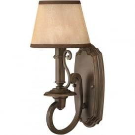 PLYMOUTH traditional bronze wall light with shade