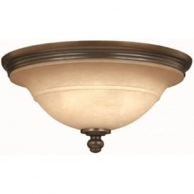 PLYMOUTH traditional flush fitting ceiling light