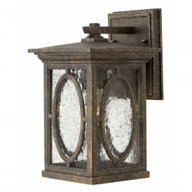 RANDOLPH small traditional garden wall lantern with seeded glass