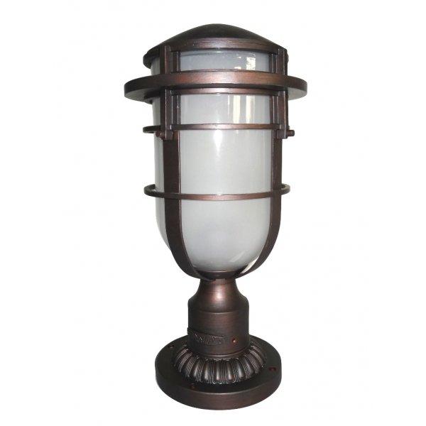 Bronze Nautical Style Garden Gate Post Lantern In Cast Aluminium