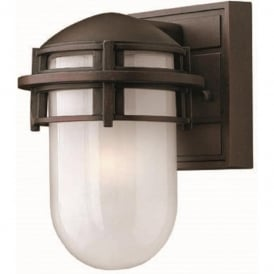 REEF mini bronze garden wall light