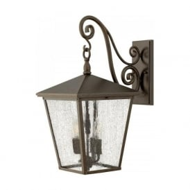 TRELLIS large traditional garden wall lantern in Regency bronze