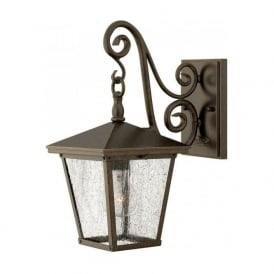 TRELLIS small traditional garden wall lantern in Regency bronze