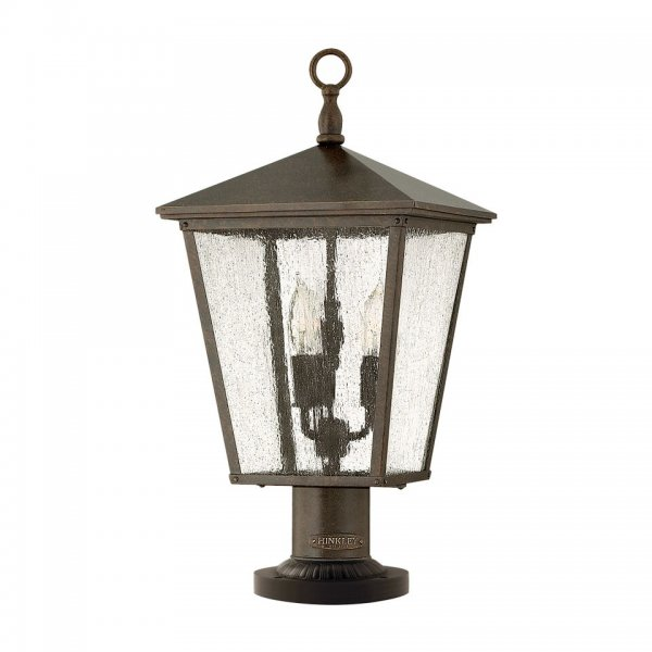 Bronze pedestal lantern or gate post light in classic for American classic lighting