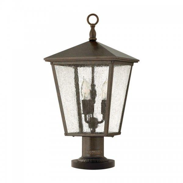 Bronze pedestal lantern or gate post light in classic for American classic lighting