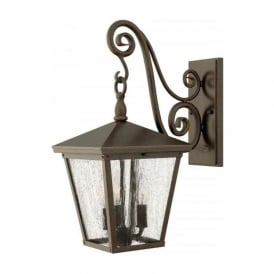 TRELLIS traditional garden wall lantern in Regency bronze - medium