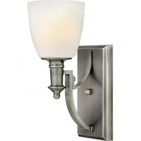 TRUMAN classic design single antique nickel wall light