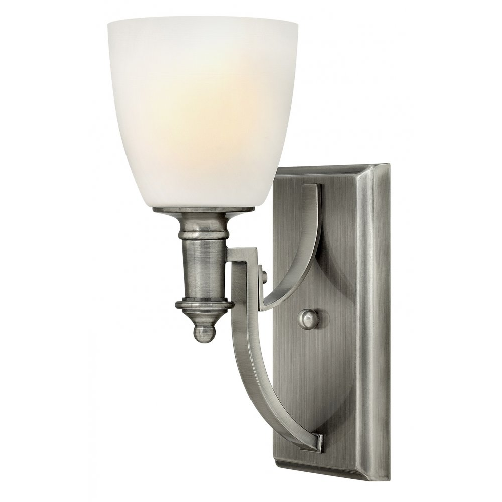 Truman antique nickel single wall light fitting in classic for American classic lighting