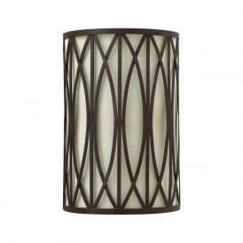 WALDEN decorative bronze flush fitting wall light