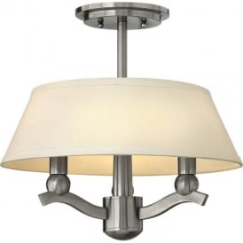 WHITNEY 3 light dual mount brushed nickel ceiling light