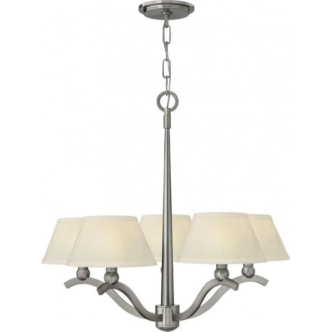 5 light classic design brushed nickel ceiling chandelier for American classic lighting