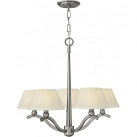 WHITNEY 5 light brushed nickel ceiling light